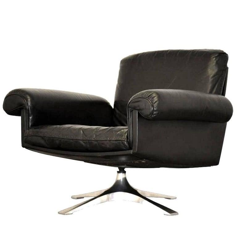 Vintage De Sede DS 31 Swivel Lounge Armchair 1970`s