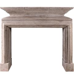 Rustic French Louis XIII Style Fireplace in Lincolnshire Stone