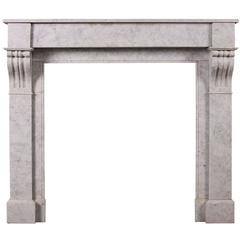 French, Louis Philippe Carrara Marble Fireplace