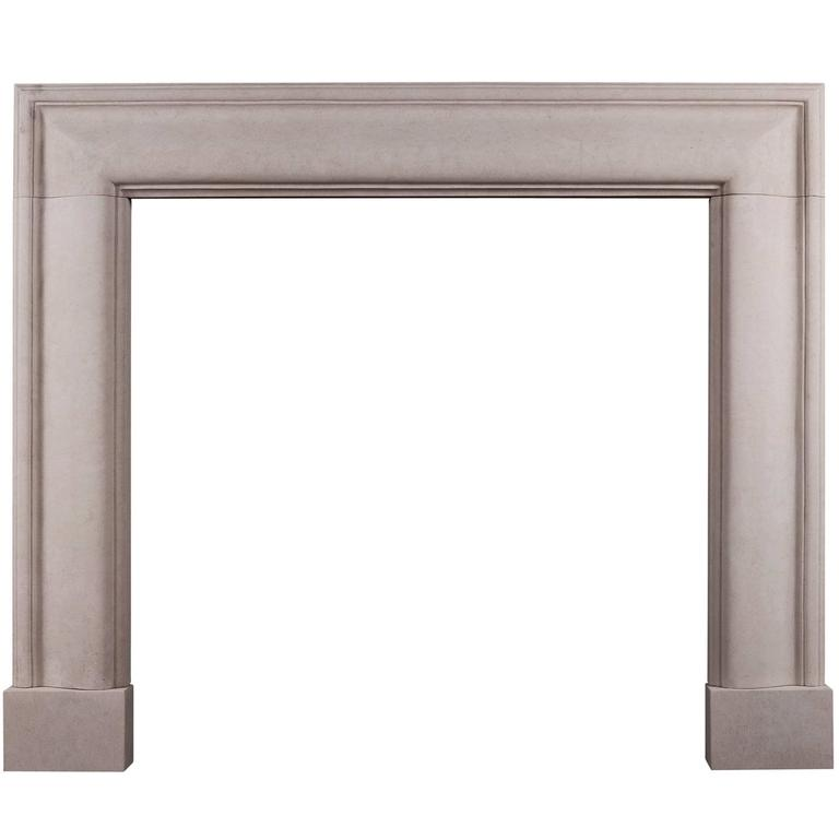 English Moulded Bolection Fireplace in Portland Stone
