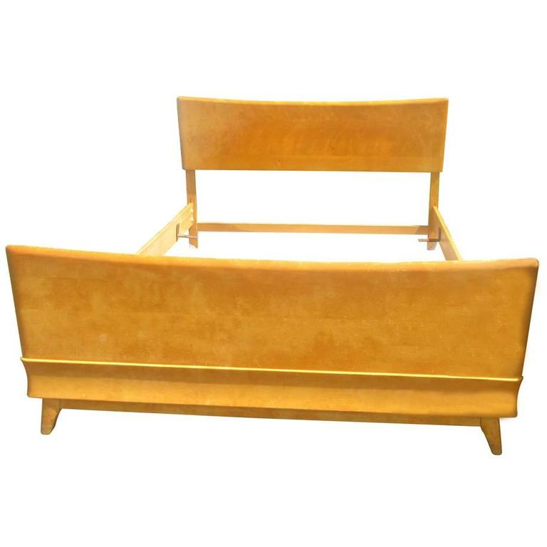 Vintage Mid Century Heywood Wakefield Bed Frame For Sale at 1stdibs