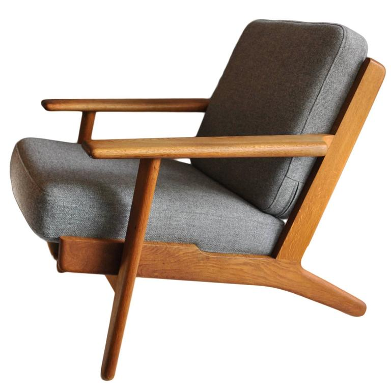 1950s hans j wegner ge290 oak plank chair at 1stdibs