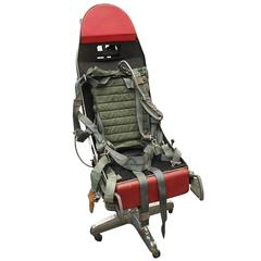 Polished F-16 Ejection Seat Turned Office Chair
