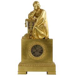 Fine French Empire Gilt Bronze Antique Mantel Clock by Honoré Pons, circa 1830