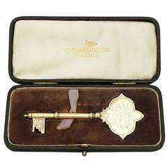 Sterling Silver Ceremonial/Presentation Key, Antique George V