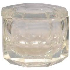 Octagonal Lucite Ice Bucket, Mid-Century