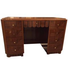 Impressive French Art Deco Desk with Secretary Table