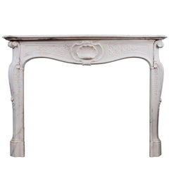 Quality 18th Century Antique Italian Fireplace in Statuary Marble