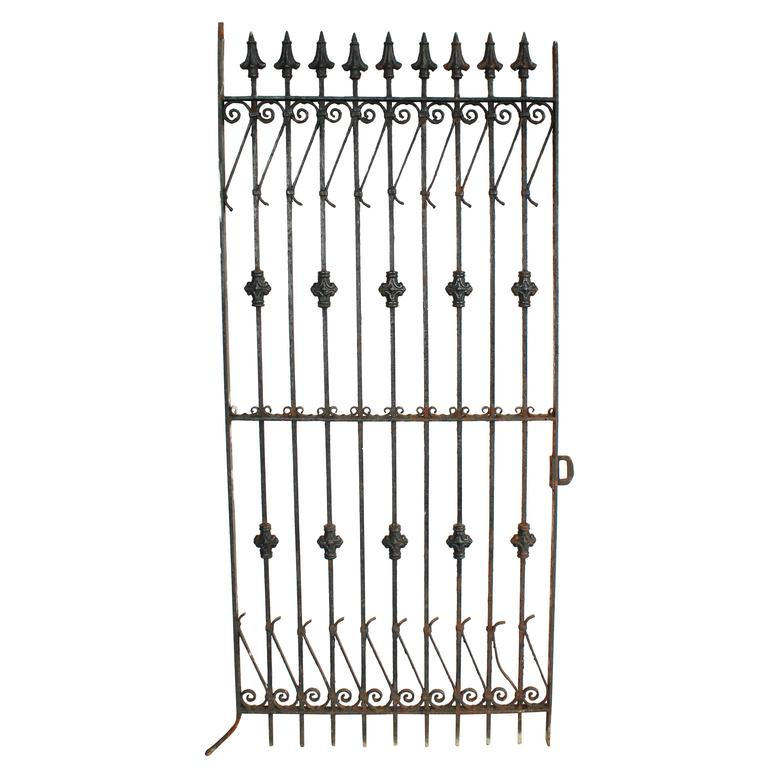 Late Victorian Iron Garden Gate For Sale