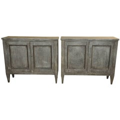 Pair of 19th Century Spanish Buffets Clad in Zinc