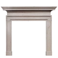 George II Style Ancaster Stone Fireplace