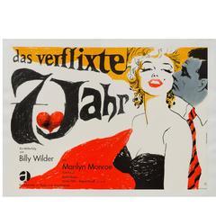 """""""The Seven Year Itch"""" Original German Film Poster, Fischer-Nosbisch, R1966"""