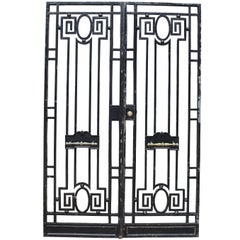 Pair of Antique Wrought Iron Pedestrian Gates
