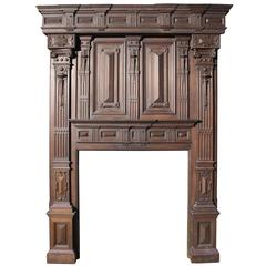 Impressive Large-Scale Victorian Carved Oak Fire Surround