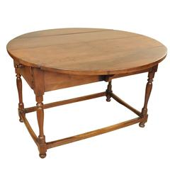 18th Century French Oval Drop-Leaf Table