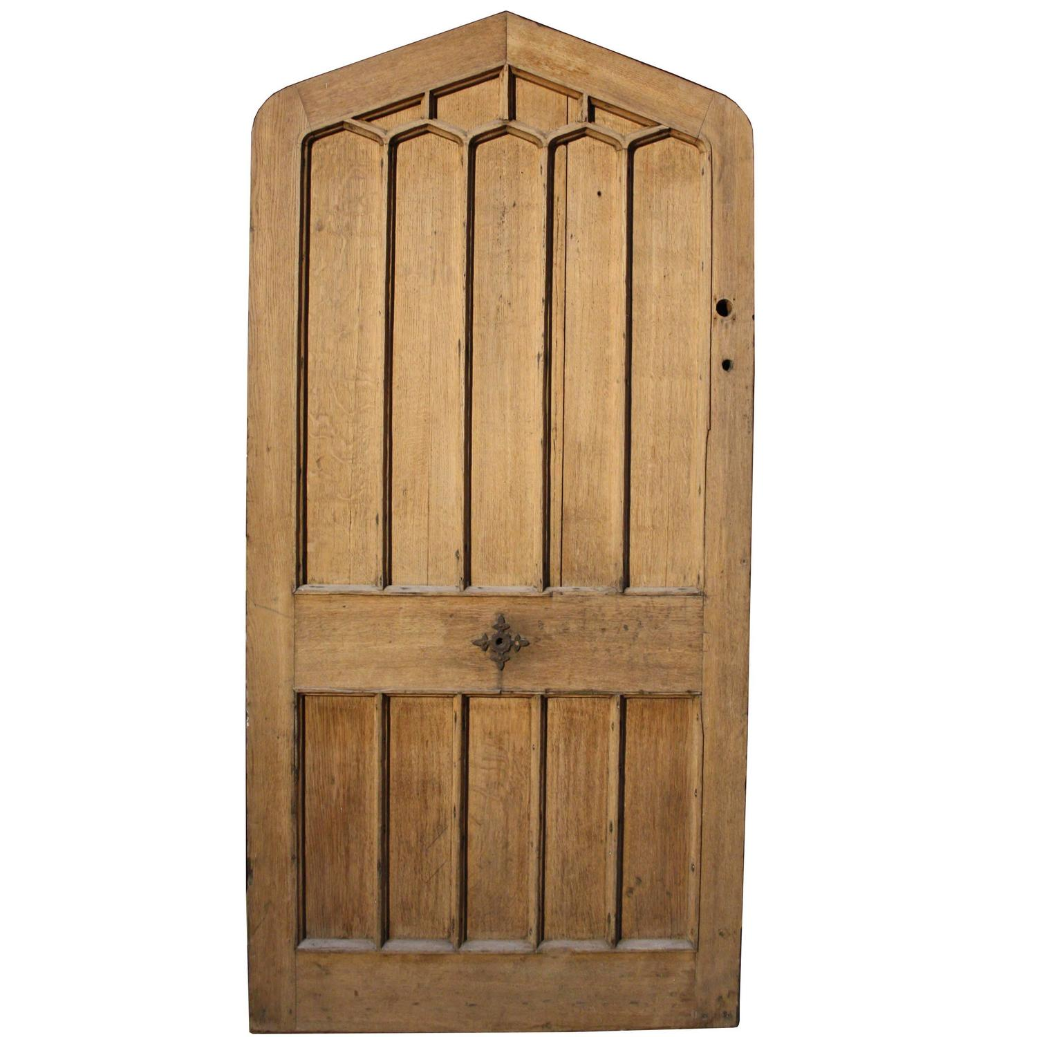 19th Century Arched Oak Front Door For Sale At 1stdibs