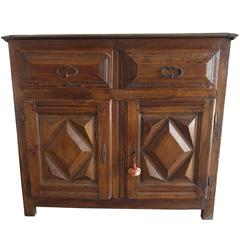 19th Century Spanish Walnut Cabinet with Drawers