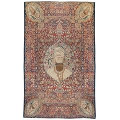 Notable 19th Century Pictorial Kirman Rug