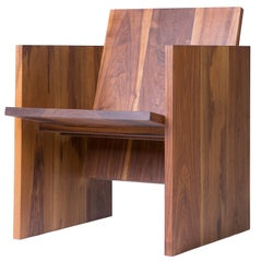 Walnut Armchair with Multi-Purpose Sub-Seat Trough