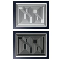 Pair of Geometric Lithographs by Josef Albers