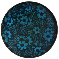 Large Stoneware Plate by Raoul Lachenal, France, circa 1930