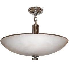 Italian Carved Alabaster Flush Fixture