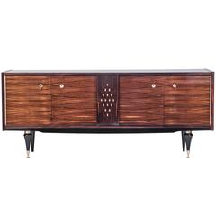Rare French Art Deco Buffet / Sideboard in Blonde Macassar Ebony