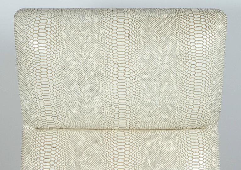 Paul Marra Slipper Chair in Brass with Faux Python 8
