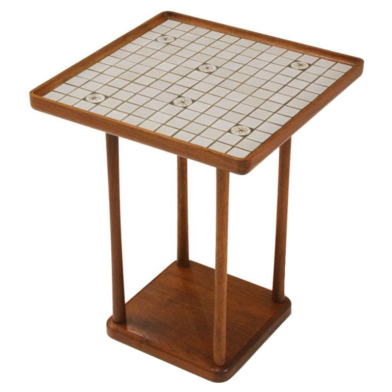 Square Tile Top Occasional Table by Gordon Martz