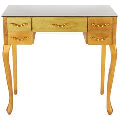 Queen Anne Style Gold-Leaf Vanity
