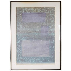 Hideo Hagiwara, 'Fantasy in Blue (3)', Woodblock Color Print, Signed and Framed