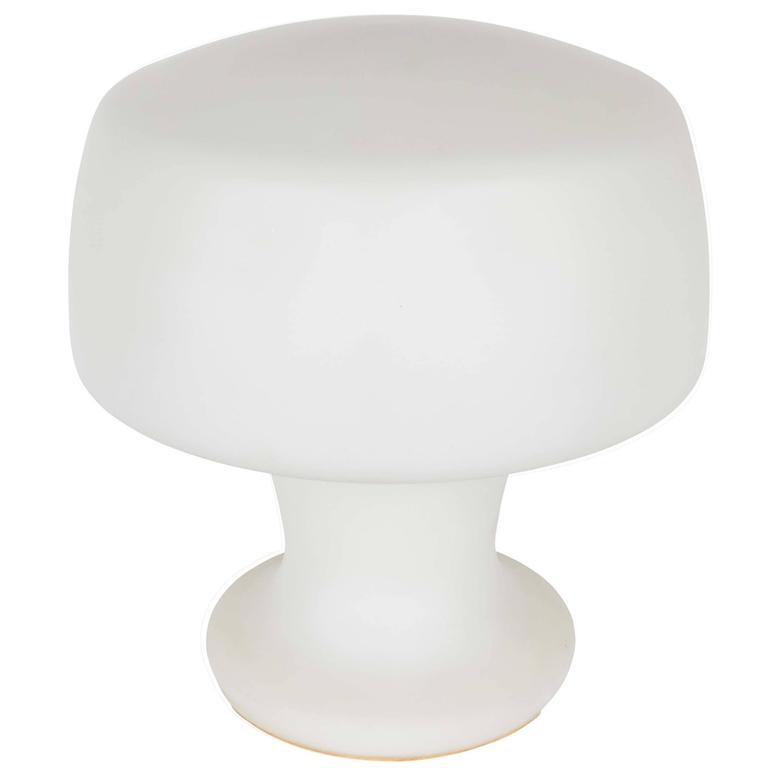 Laurel Mushroom Lamp in Frosted Glass