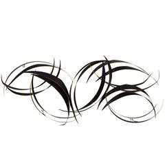 Curtis Jere Abstract Black Metal Wall Sculpture