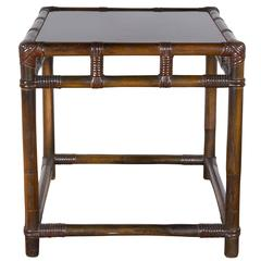 Ficks Reed Style Bamboo Side Table