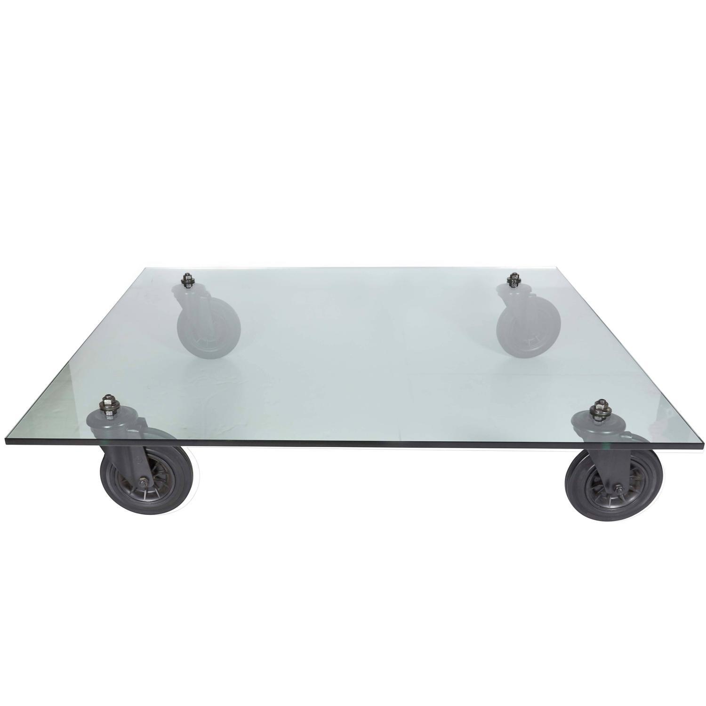 Gae Aulenti Tavolo con Ruote Table for Fontana Arte at 1stdibs