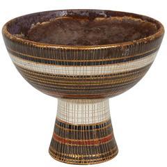 Bitossi 'Seta' Ceramic Footed Bowl