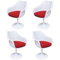 Set of Four Saarinen-Style Tulip Armchairs