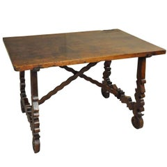Exceptional Catalan Late 17th Century Side Table