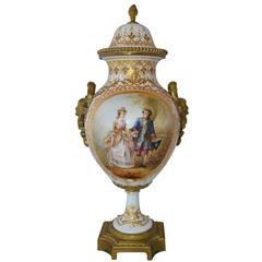 Antique 19th Century Sèvres Hand-Painted Urn