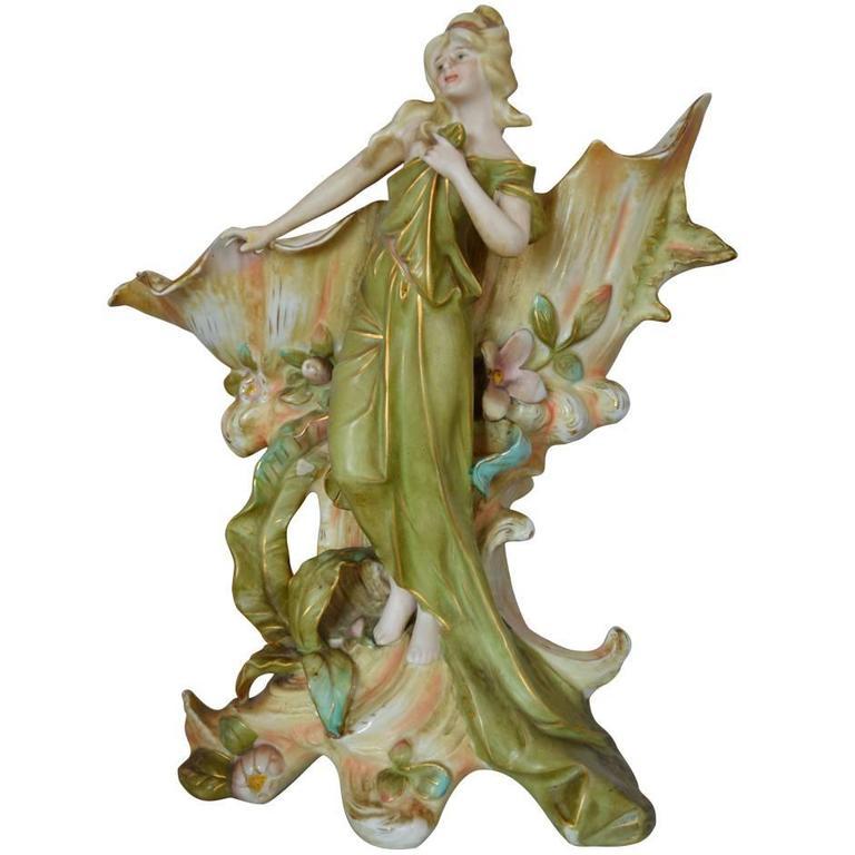 Royal Dux Porcelain Figurine At 1stdibs