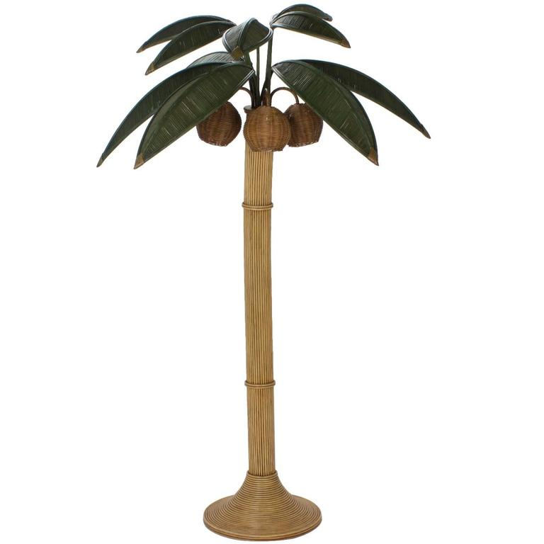 Stylized Reed Palm Tree Floor Lamp