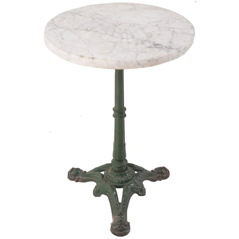French 1920s Bistro Table With Marble Top 1