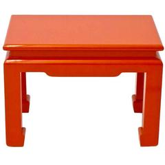 Vintage Papaya Lacquered Side Table