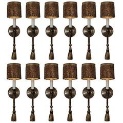 Group of Twelve Boyd Lighting Duchess Sconces