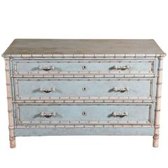 Faux Bamboo Painted Chest of Drawers
