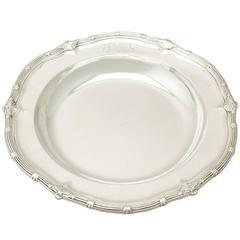 Antique George II Sterling Silver Serving Dish by Paul de Lamerie
