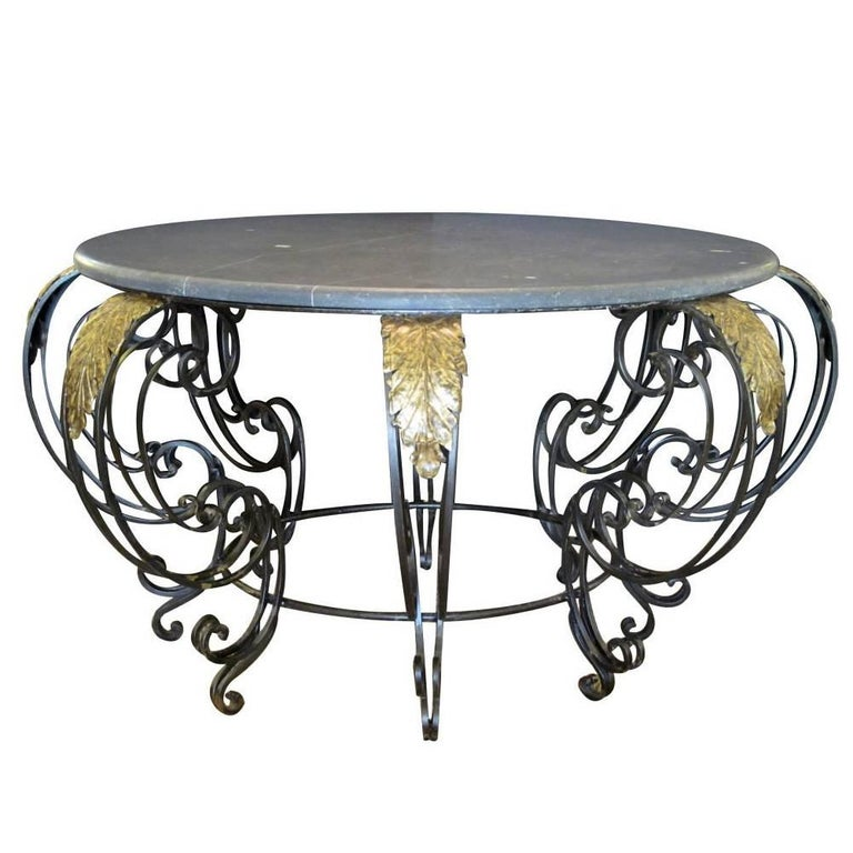 Curvaceous French Rococo Style Wrought-Iron Centre Table