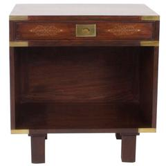 Antique Campaign Style Nightstand