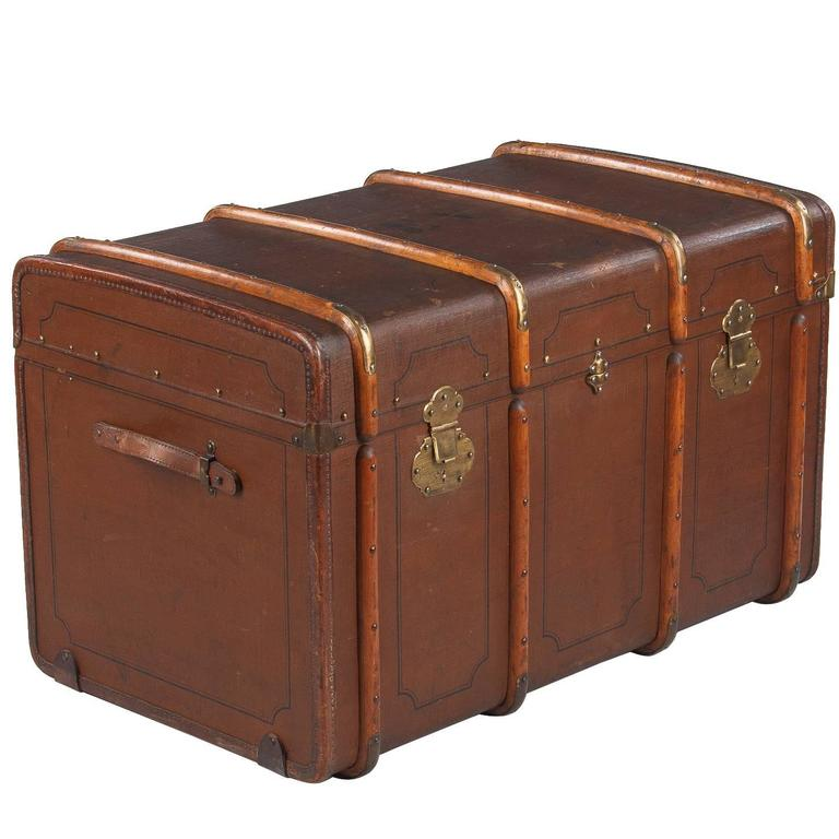 French Traveling Steamer Trunk, Early 1900s For Sale