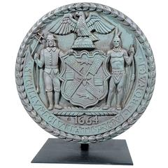 WPA-Era Cast Iron Ornamental Plaque from NYC West Side Highway